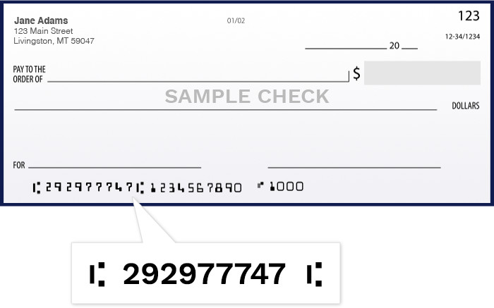 Routing number image